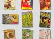 Vendo diversos álbuns de figurinhas futebol anos 40, 50, 60,de r$700 a r$2500 cada