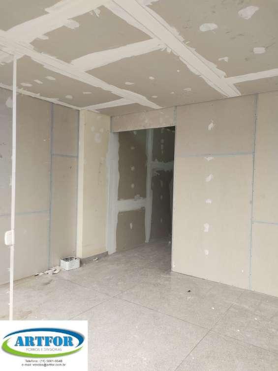 Fotos de São paulo divisórias eucatex, paredes divisórias, dry wall, divisórias gesso. 10
